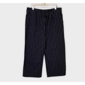 Wild Fable Striped Wide Leg Cropped Soft Pants